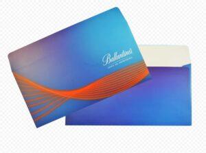 печать на конвертах синих